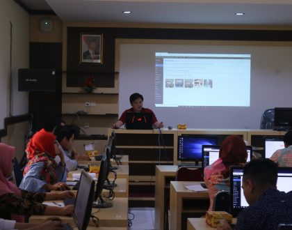 LPTIK MENGADAKAN WORKSHOP PENGISIAN KONTEN WEBSITE UNIT KERJA DI LINGKUNGAN UNIVERSITAS JAMBI